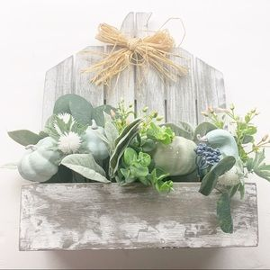 Rustic Wood Pumpkin Fall Decor